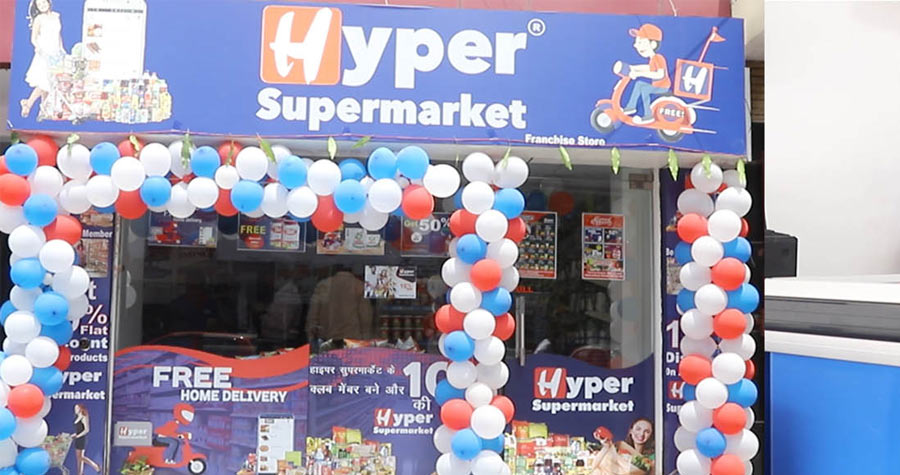 Hyper Supermarket Grocery Mart Franchise in India