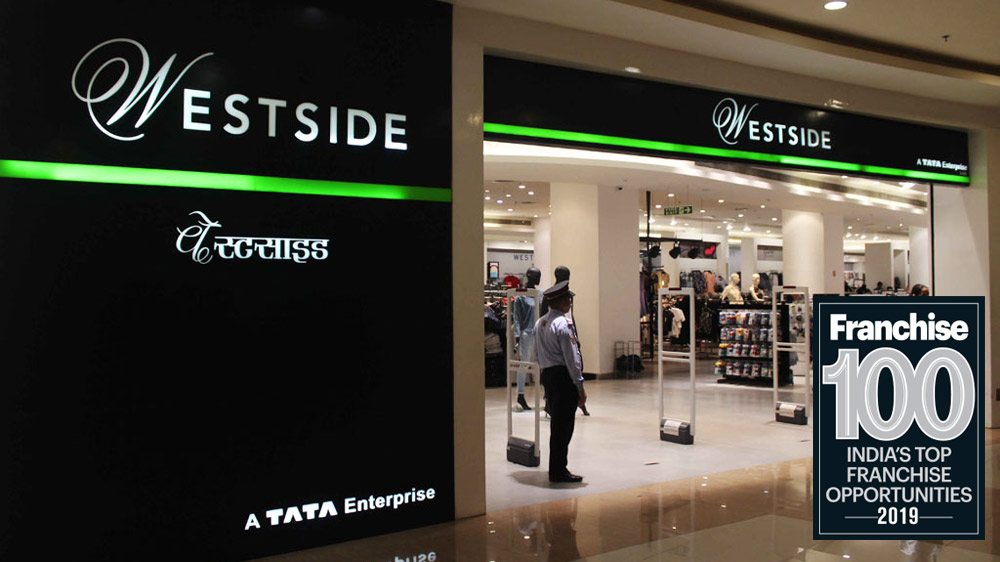 Westside Listed As One of the Top 100 Franchise Brands In India