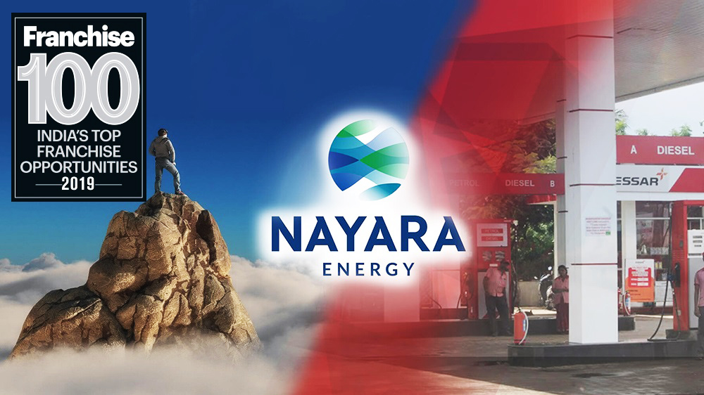 India's 2nd Largest Single Site Refinery, Nayara Energy Drives Its Way Into The Top Franchise 100 Brands List