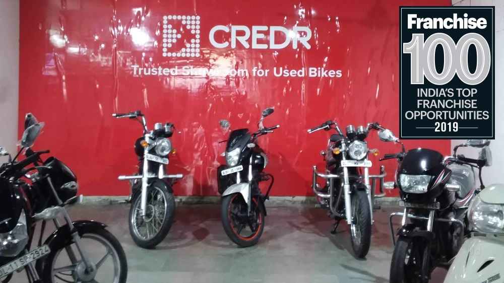 Credr's Revolutionizing Journey In The Used Two Wheelers Industry Makes It A Debutant In The Top Franchise 100 Brands List