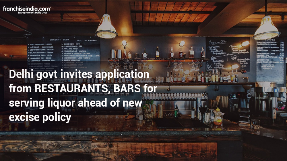 Delhi govt invites application from restaurants, bars for serving liquor ahead of new excise policy