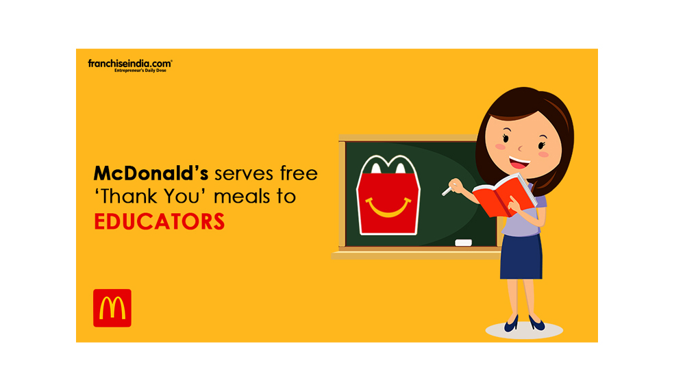 McDonald's serves free 'Thank You' meals to educators