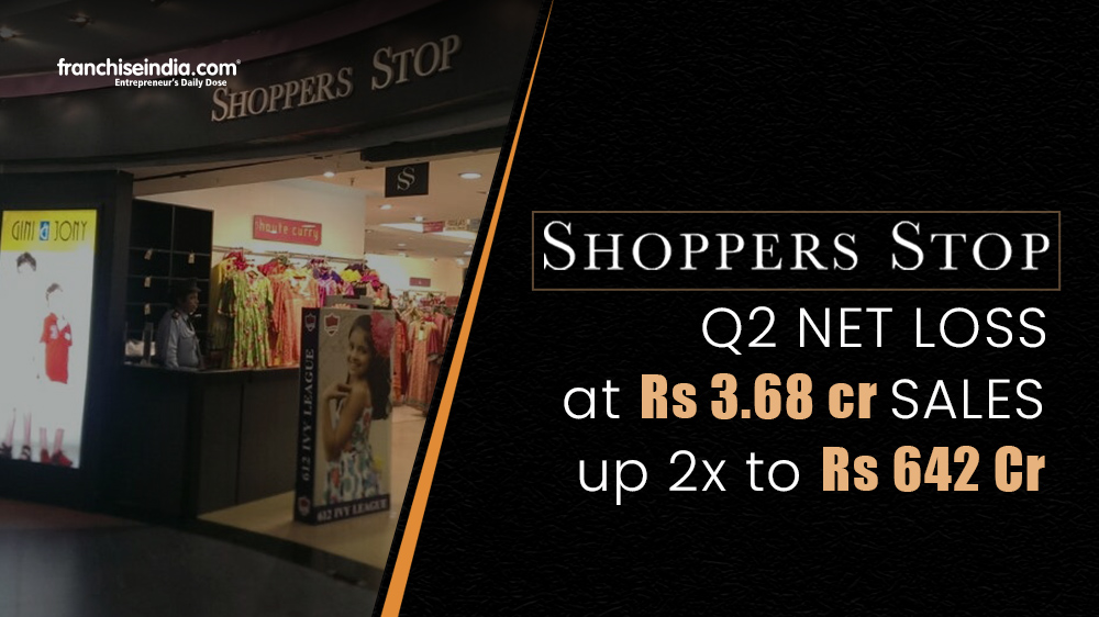 Shoppers Stop Q2 Net Loss At Rs 3.68 crore, Sales Up 2x To Rs 642 Crores