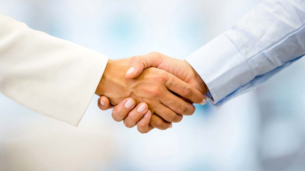 How to part ways with a shake hand
