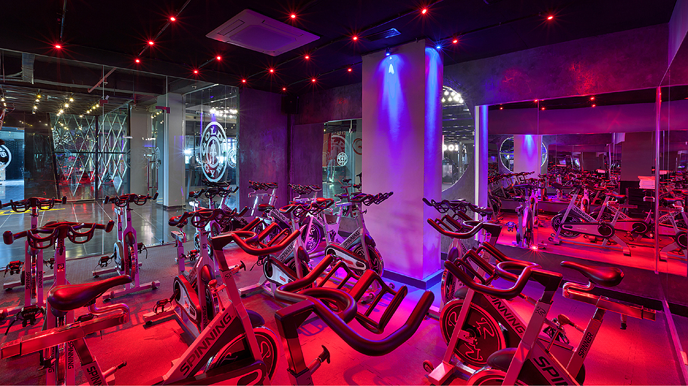 Gold's Gym created designer space for workout