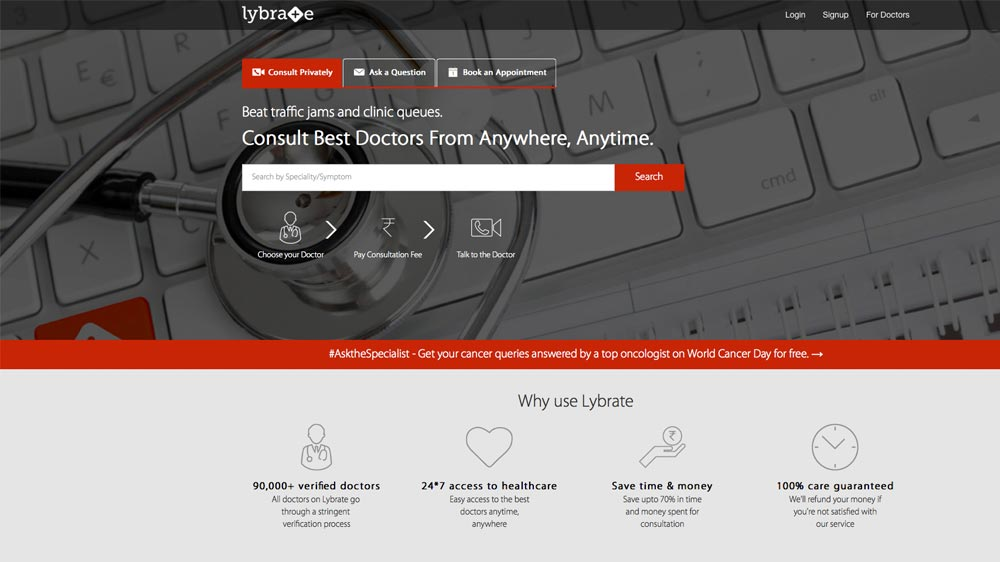 Healthcare start-up Lybrate raises over $10 mn from Ratan Tata & Tiger Global