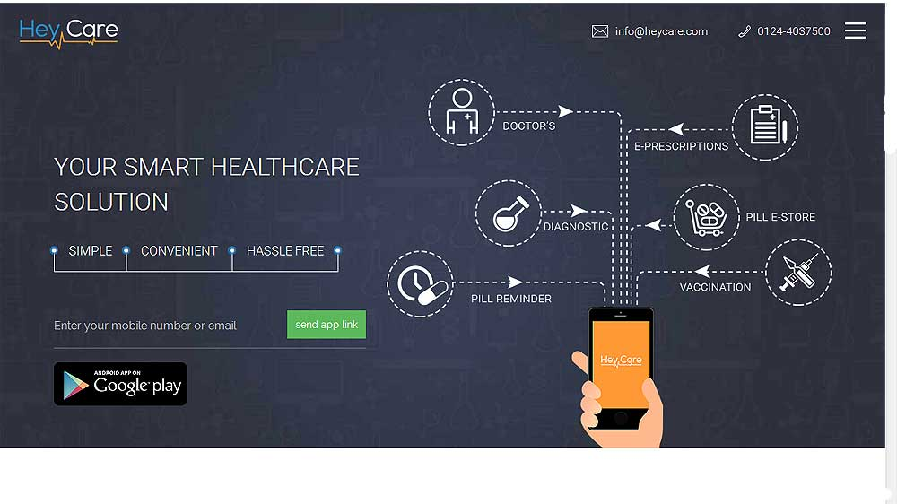 HeyCare App: Offering medical assistance