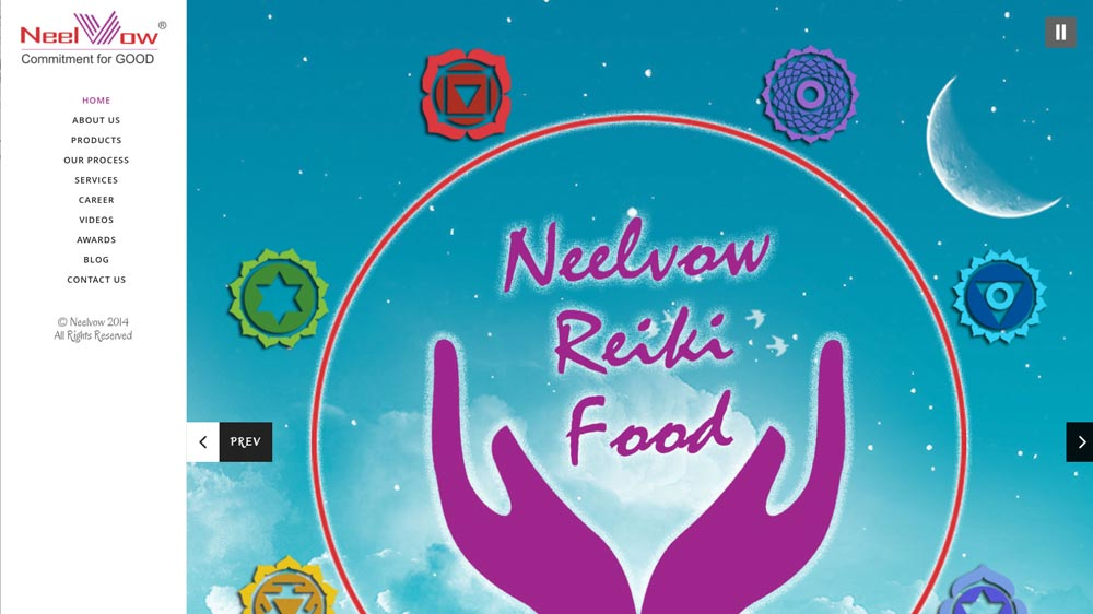 Neelvow Reiki Food: Offering Environmental Energy food products for positive life