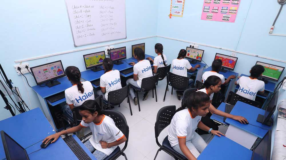 Haier India & Aarohan come together to impart quality education to girl students in Greater Noida