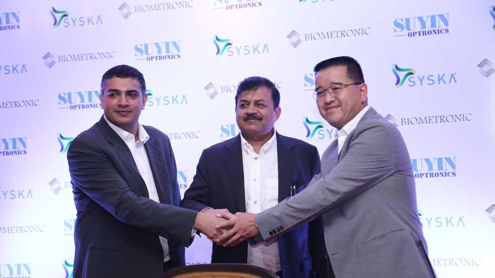 सिस्का  समूह और बायोमेट्रोनिक के साथ साझेदारी में सुयिन ऑप्ट्रोनिक्स भारत में संचालन सेट