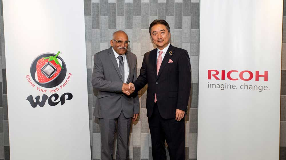 WeP Solutions & Ricoh Asia Pacific enter into a Distributor Agreement for the Indian Market