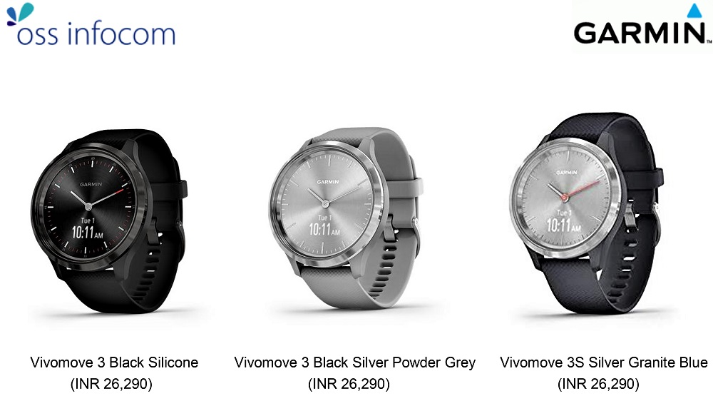 OSS Infocom ties up with Garmin for distribution of Vivomove 3 series with 5 health indicators
