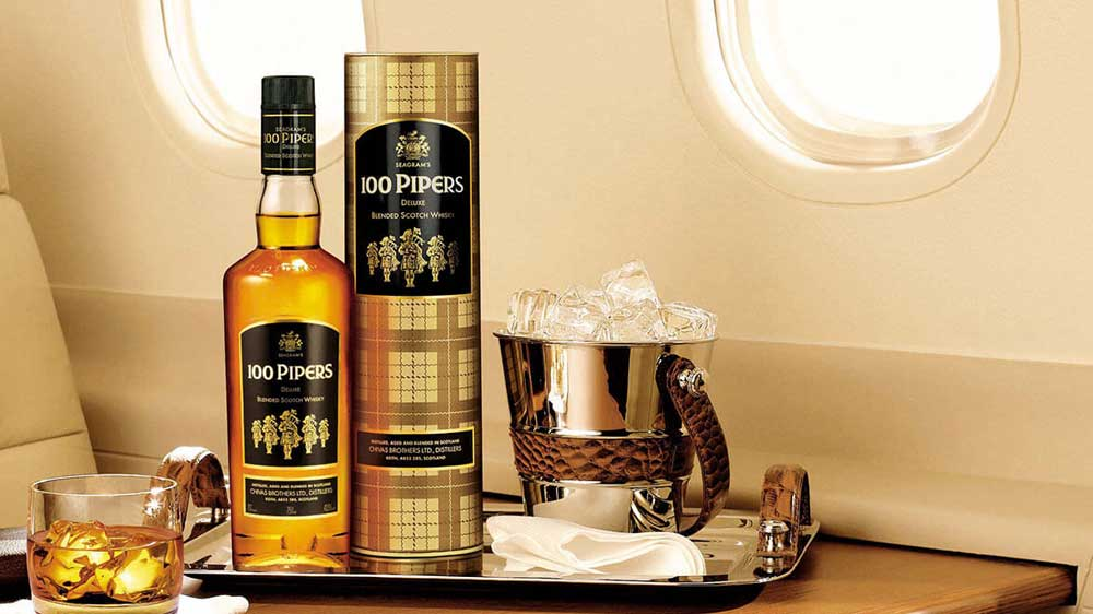 Seagram's 100 Pipers hits 1 million cases in sales
