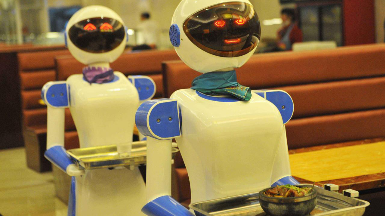 Pizza.com of Pakistan uses a robot 'waitress' for serving in restaurant