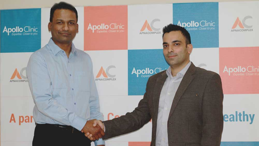 "Apollo Clinic partners with ApnaComplex to set up India's first ""Society Clinics"" chain"