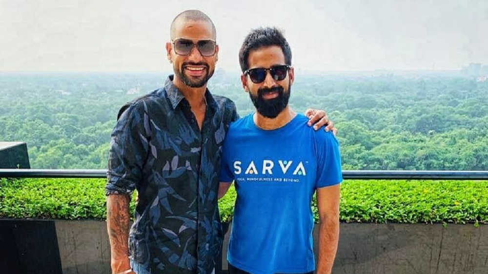 Shikhar Dhawan invests in leading Indian Yoga Brand 'SARVA'