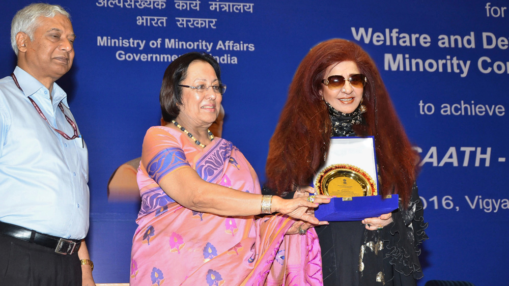 Shahnaz Husain joins hands with Indus Group to implement Skill Development