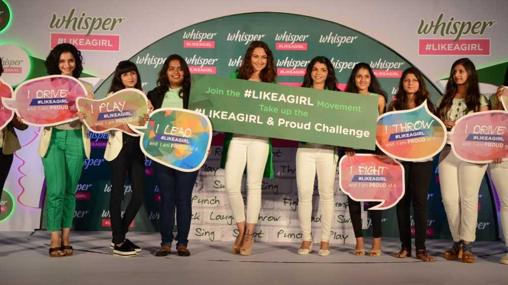 Sonakshi Sinha, Sakshi Malik and Bani J announce the #likeagirl & proud challenge