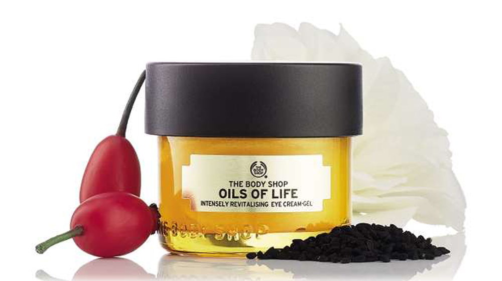 The Body Shop launches Oils of Life Intensely Revitalising Eye Cream-Gel